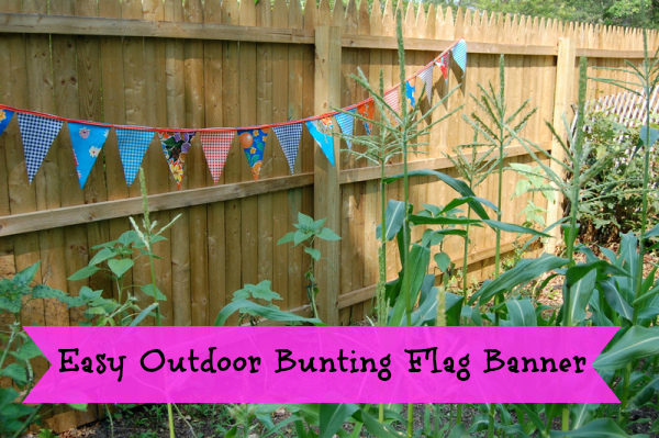 Easy Outdoor Bunting Flag Banner